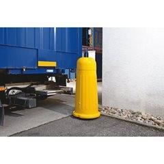 Rammschutz-Poller, für den Innen- und Außenbereich, Gesamthöhe ca. 1300 mm, schw