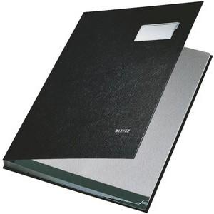 Unterschriftsmappe, PP-kaschiert, A4, 10 Fächer, schwarz