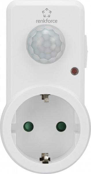 Renkforce Zwischenstecker PIR-Bewegungsmelder 120 ° Weiß IP20