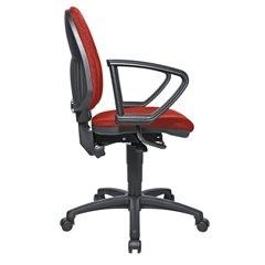 Standard-Drehstuhl, ohne Armlehnen, Rückenlehne 550 mm, Gestell schwarz, Stoff r