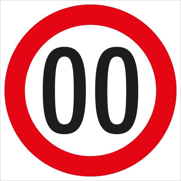 §52/10a Geschwindigkeitsbegrenzung ... km/h | flaches Verkehrszeichen