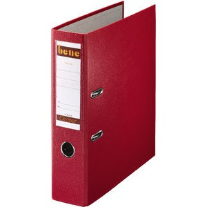 Ordner No.1, PP-kaschiert, Einsteckrückenschild, A4, 80 mm, rot