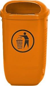 Abfallkorb nach DIN 30713 Orange,Standard