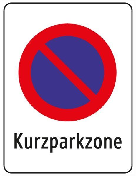 §52/13d Kurzparkzone | flaches Verkehrszeichen