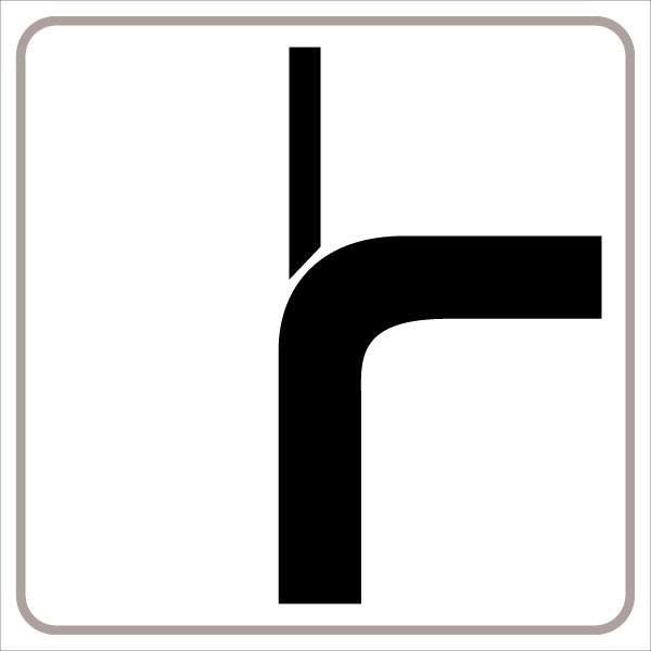 §54/5 Zusatztafel Verlauf der Vorrangstraße