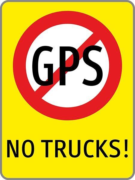 No GPS | flaches Verkehrszeichen