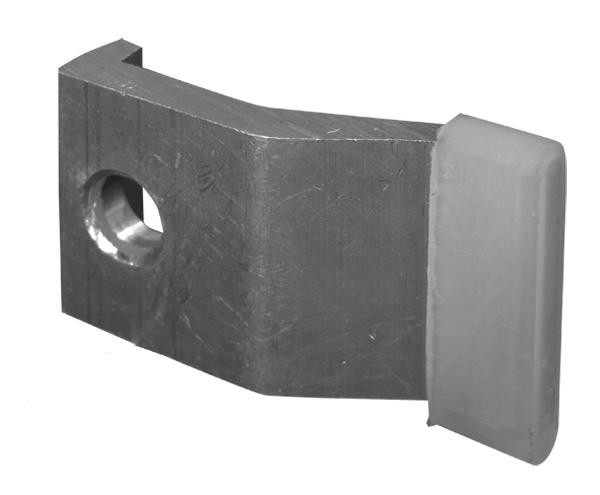 Klemme B mit Plastikhülse Aufpreis für doppelseitige Rohrrahmen-Lasche