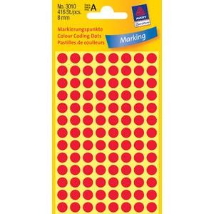 Markierungspunkt, Handbeschr., sk, Ø: 8mm, rot