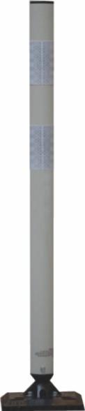 TS KICKBACK GRAU flexibler und überfahrbarer Poller, Höhe 900mm, dm 60mm, Lieferung ohne Grundplatte