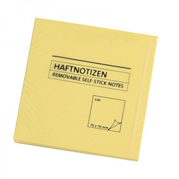 Haftnotiz 76x76mm gelb 100Blatt