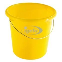 Plastikeimer rund 10l gelb
