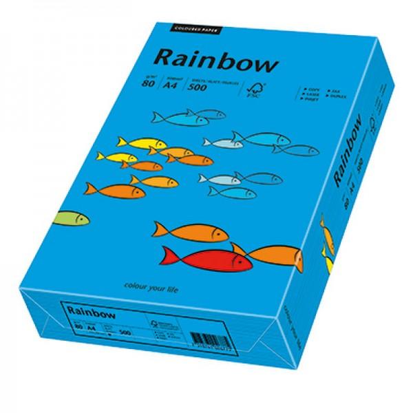 Rainbow Kopierpapier 88042761 A4 80g intensivblau 500 Bl./Pack.
