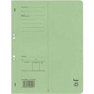 Ösenhefter, Karton (RC), 1/1 Vorderdeckel, A4, grün
