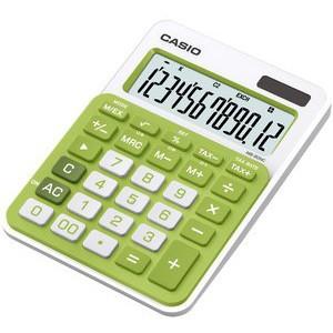 Tischrechner, MS-20NC, Solar/Batterie, LCD, 12stellig, 124 g, grün
