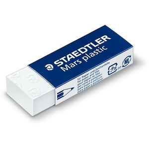 Radierer Mars® Plastic, PP, für: Blei-/OHP-Stifte, 65x23x13mm, weiß