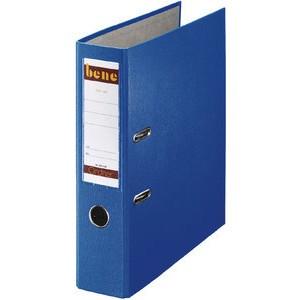 Ordner No.1, PP-kaschiert, Einsteckrückenschild, A4, 80 mm, blau