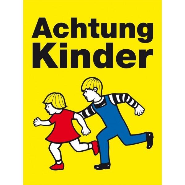 Achtung Kinder Tafel - 2 laufende Kinder