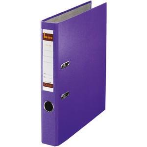 Ordner No.1, PP-kaschiert, Einsteckrückenschild, A4, 52 mm, violett