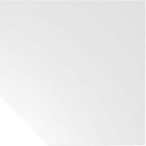 Trapezplatte Weiß 120x120 cm