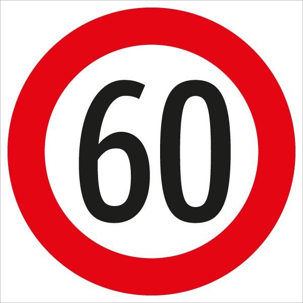 Verkehrszeichen - §52/10a Geschwindigkeitsbegrenzung 60 km ...