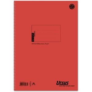 Spiralbuch, 04256010, liniert, A4, 70 g/m², Einband: orange, 48 Blatt