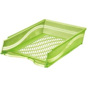 Briefkorb, PS, C4, 255 x 370 x 65 mm, grün, transparent