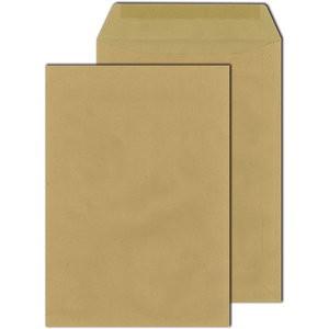 Versandtasche, o.Fe., gummiert, B4, 110 g/m², Natron (RC), braun