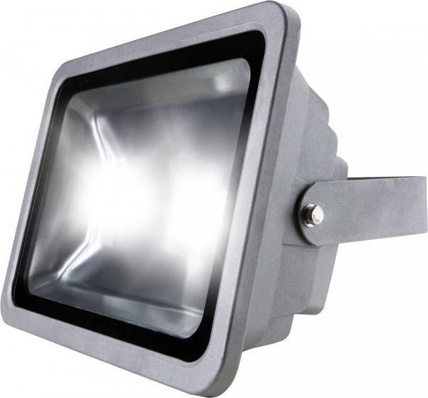 as - Schwabe 46980 LED-Außenstrahler 80 W Neutral-Weiß Grau