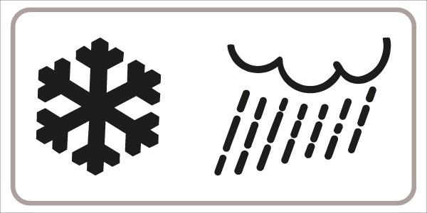 §54/5 Zusatztafel Schnee + Regen