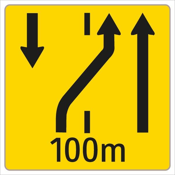 §53/16c Fahrstreifenanzeiger gelb – schwarz W6