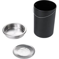 Standascher, Höhe 600 mm, Volumen 13 l, schwarz.