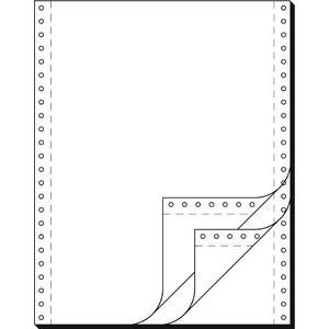 Tabellierpapier, LP, 240x304,8mm, 3f., sd, 52g/m², blanko, weiß