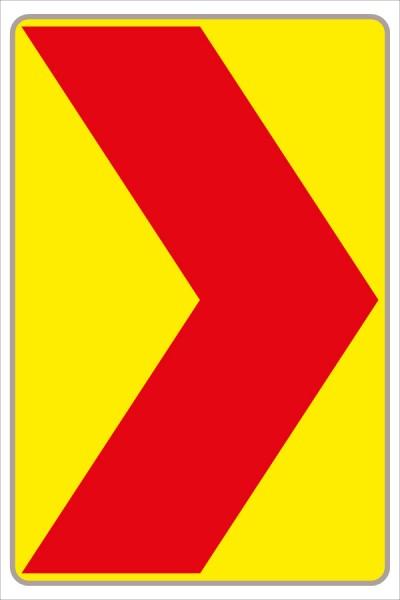 Leitwinkel fluoreszierend gelb/rot