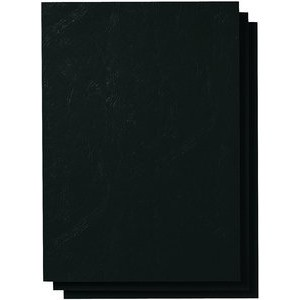 Umschlagmaterial, Karton, ledergenarbt, A4, schwarz