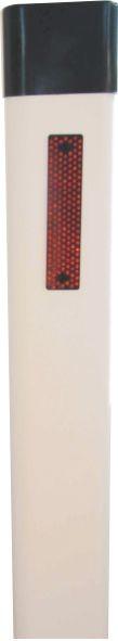 Leitpflock mit 2 Kunststoffrückstrahlern rot,weiß, 1000mm lang