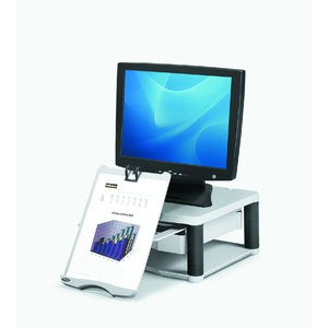 Monitorständer Plus, Platte: 34,3x33,3cm, platin/graphit