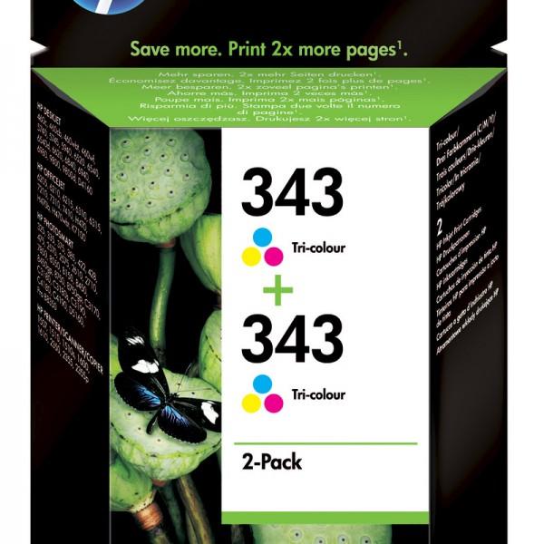 HP Tinte Doppelpack CB332EE 343 color 2x 330 Seiten