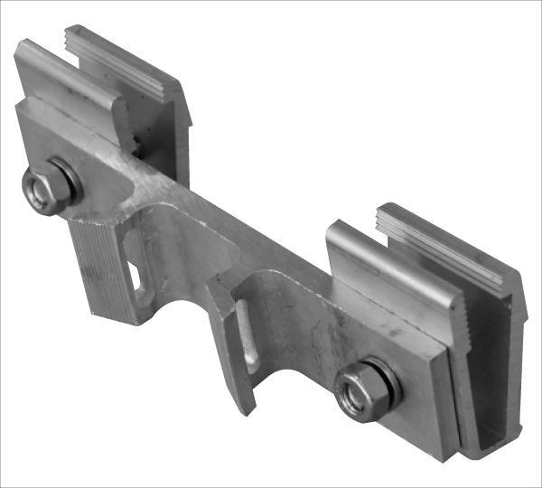 L-10 Stahlband Lasche Alu inkl. 2 Klemmklötzen