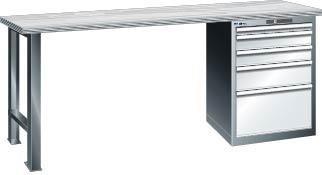 Werkbank 1500x750x840 mm Multiplex40,1Schr.4SL,bl