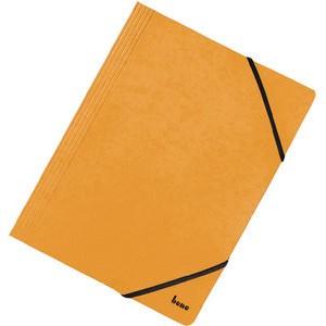 Einschlagmappe Vario, Karton, 425 g/m², 3 Klappen, A4, gelb