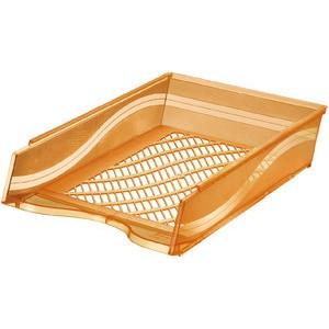 Briefkorb, PS, C4, 255 x 370 x 65 mm, orange, transparent