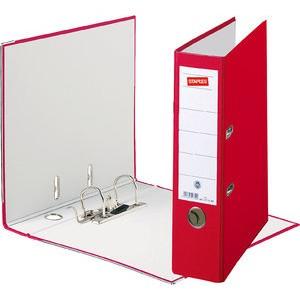 Ordner Color, PP, Einsteckrückenschild, A4, 80 mm, rot