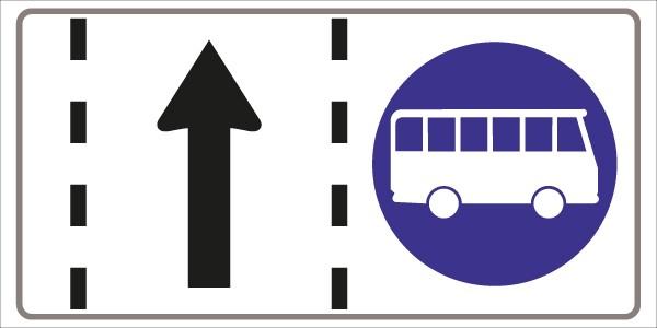 §53/25 Fahrstreifen für Omnibusse