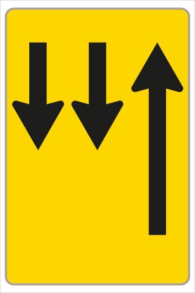 §53/16c Fahrstreifenanzeiger gelb – schwarz F12