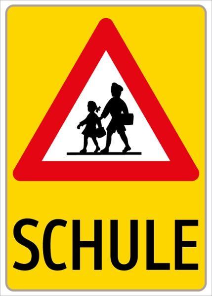 Par. 50/12 Kinder + SCHULE | flaches Verkehrszeichen
