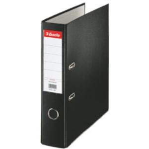 Ordner Economy, PP-kaschiert, Einsteckrückenschild, A4, 75 mm, schwarz