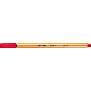 Fineliner point 88®, mit Kappe, 0,4 mm, Schreibf.: rot