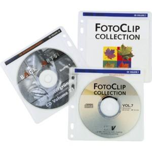 CD-Hülle, für: 2 CDs/DVDs, farblos/weiß, transparent