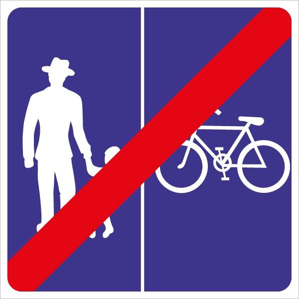 §53/29d/1 Ende Geh – und Radweg ohne Benützungspflicht für Radfahrer - Rad rechts