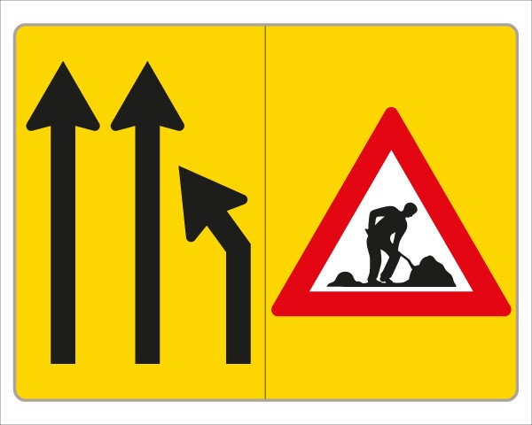 §53/16c Fahrstreifenanzeiger gelb – schwarz V3c